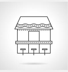 coastal cafe flat line icon vector image