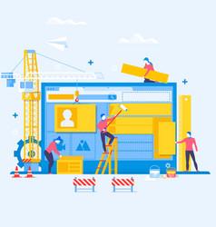 designing a website or applicationwebsite under vector image vector image