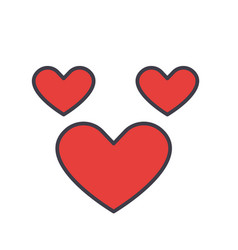 Heart love concept line icon editable vector