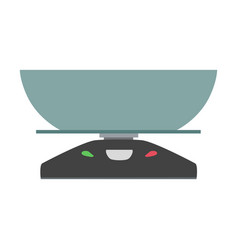 kitchen scale icon symbol balance vector image vector image