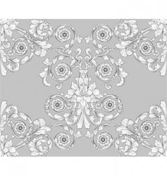 retro wallpaper pattern vector image vector image