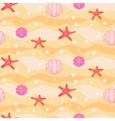 Sandbed cartoon seamless pattern vector image