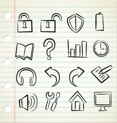 sketchy icons vector image vector image