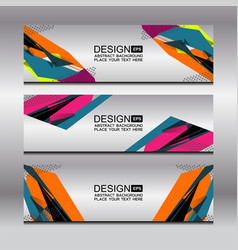 banner template design vector image vector image