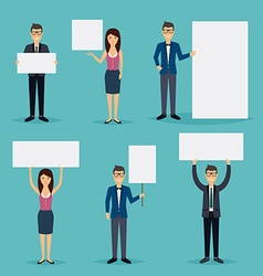 Business people giving presentation with white vector image vector image