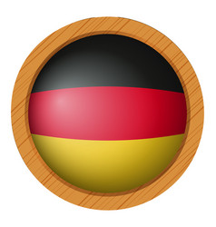 flag of germany in round icon vector image vector image