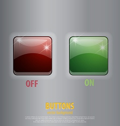 glossy off on buttons vector image vector image