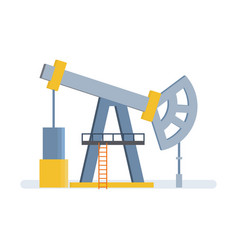 oil crane lift storage of resources in tanks vector image