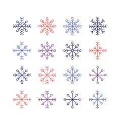 the snowflake set vector image vector image