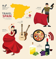 Travel Concept Spain Landmark Flat Icons vector image vector image