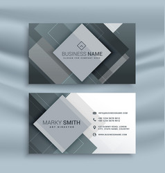 Abstract business card design with geometric vector