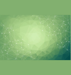 abstract space green background chaotically vector image