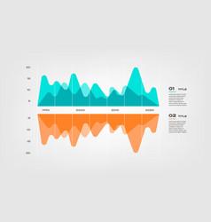 area sound diagram elements color infographics vector image