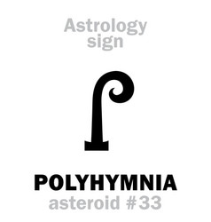 Astrology asteroid polyhymnia vector