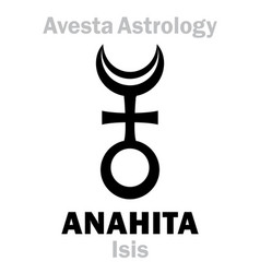 Astrology astral planet anahita isis vector