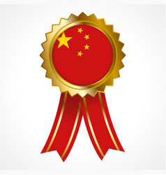 badge or medal of people republic of china vector image
