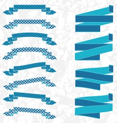 Blue ribbons vector image