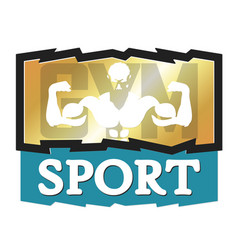 bodybuilder and sport design vector image