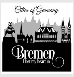 bremen - city in germany detailed architecture vector image