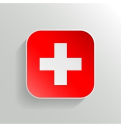 Button - Switzerland Flag Icon vector image