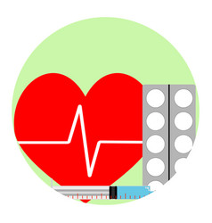 cardiac injections and tablets vector image