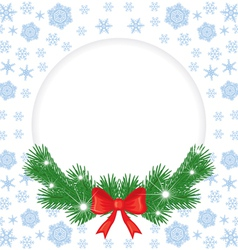 christmas round vector image