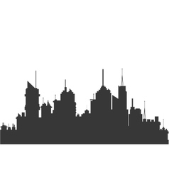 city skyline silhouette icon vector image