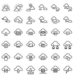 Clouds outline vector