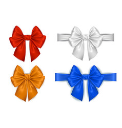 colorful bow collection vector image