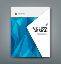 Cover Annual Report Abstract triangles geometric vector image