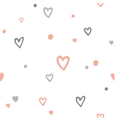 cute romantic seamless pattern with doodle vector image