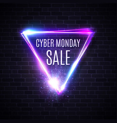 cyber monday triangle design for banner sign label vector image