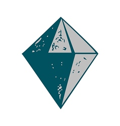 Diamond shape icon isolated abstract vector image