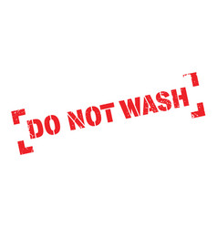 Do not wash rubber stamp vector