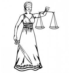 femida goddess of justice vector image