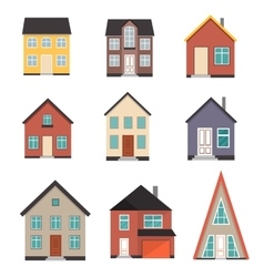 Flat House Icon set vector image