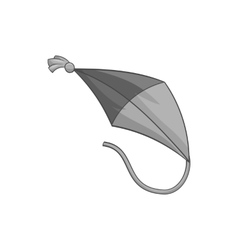 Flying kite icon black monochrome style vector image