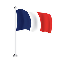 french flag isolated wave flag france country vector image