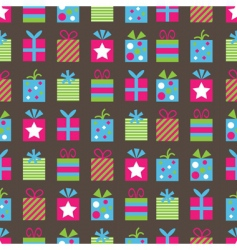 Gifts pattern vector