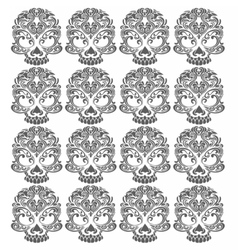 Gothic damask ornament pattern vector