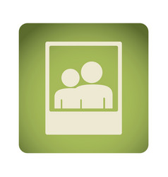 green emblem people picture icon vector image
