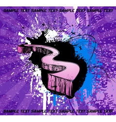 Grunge 3d arrow vector