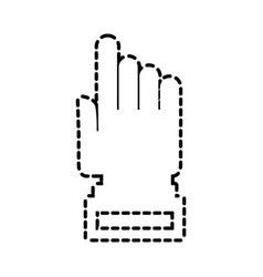 hand cursor technology point connection link vector image