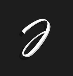 handwritten logo letter j vector image
