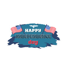 happy independence day white vector image