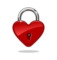 Heartshaped lock vector