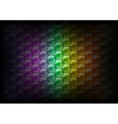 hexagon background rainbow vector image