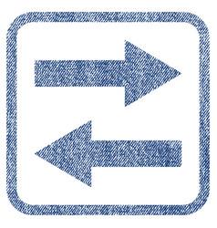 Horizontal flip arrows fabric textured icon vector