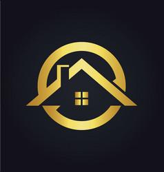 House icon rogold logo vector