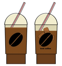 Iced coffee vector image